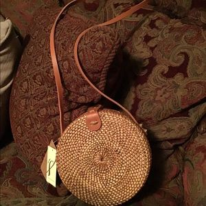 Crossbody Purse in Natural Rattan - Collection 18